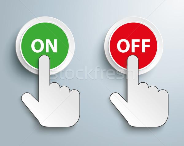 Tıklayın el düğme imleç Stok fotoğraf © limbi007