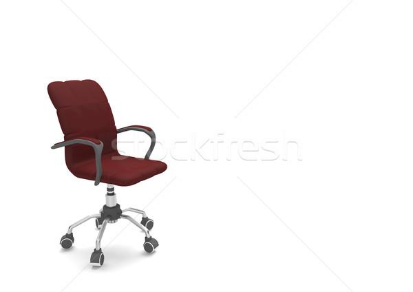 Cadeira escuro vermelho branco ilustração 3d escritório Foto stock © limbi007