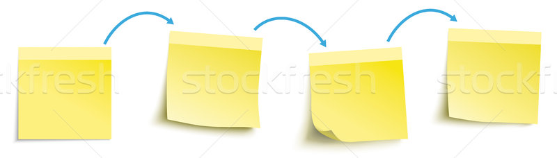 Progressive Work Yellow Arrows Sticks Header Stock photo © limbi007