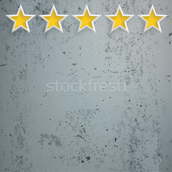 5 Stars Rating Head Concrete Stock photo © limbi007
