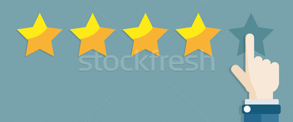 Hand 5 Stars Rating Stock photo © limbi007
