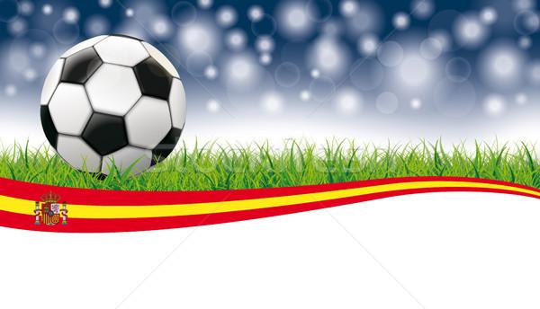 サッカー 草 フラッシュ ぼけ味 ヘッダ スペイン ストックフォト © limbi007