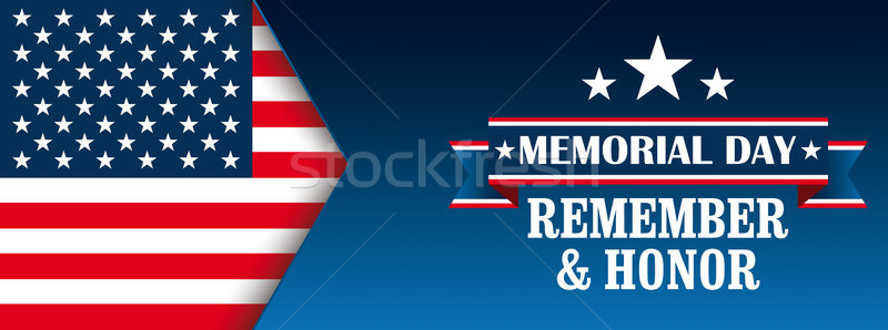 Header Memorial Day Honor USA Flag Stock photo © limbi007