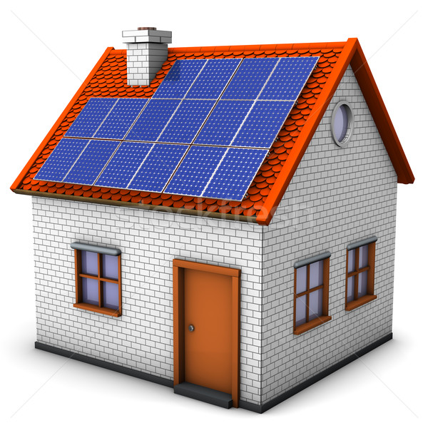 House Solar Panels Stock photo © limbi007