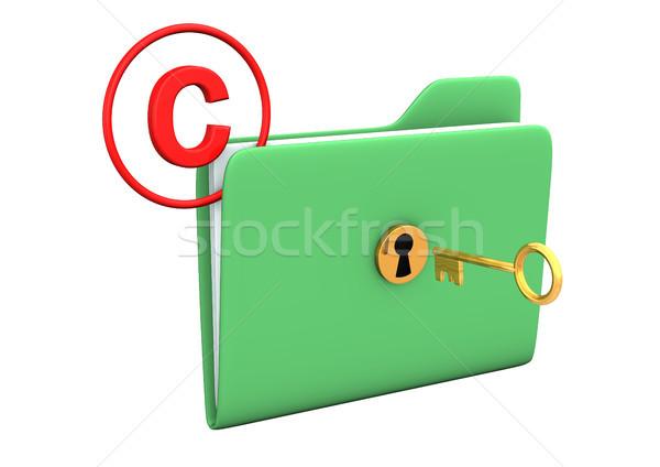 Telif hakkı Klasör anahtar altın simge Internet Stok fotoğraf © limbi007
