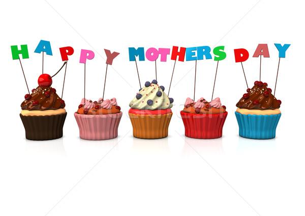 Cupcakes Happy Mothersday Stock photo © limbi007