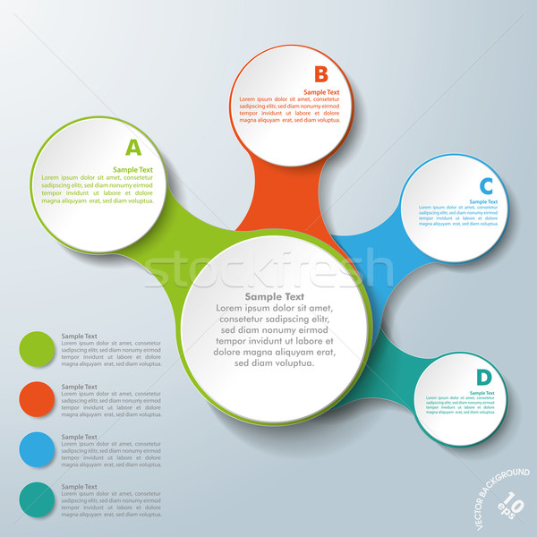 Infographic White Connected Circles ABCD Stock photo © limbi007