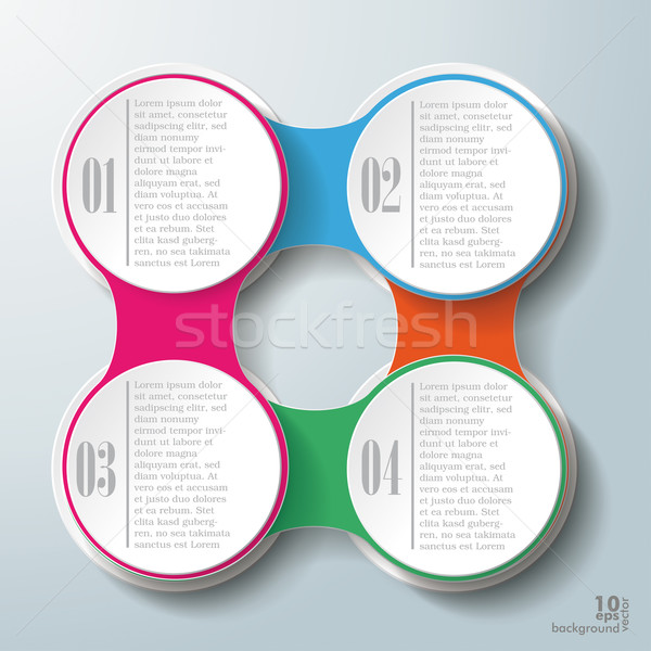 Stock fotó: Infografika · terv · színes · lánc · fehér · körök