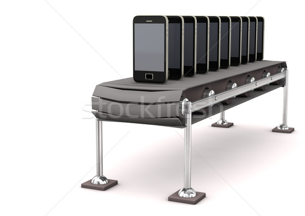 Assembly Line Smartphone Stock photo © limbi007