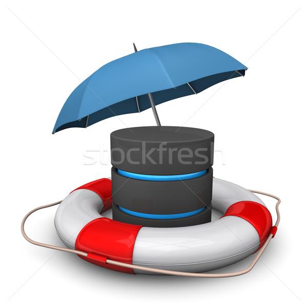 Database Umbrella Lifebelt Stock photo © limbi007