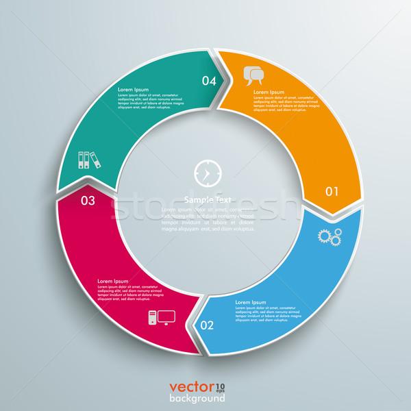 Stockfoto: Gekleurd · ring · cyclus · opties · grijs · eps