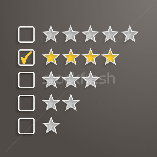 4 Stars Rating Stock photo © limbi007