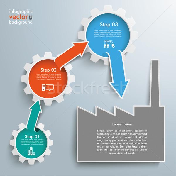 Gears Growth Arrows 3 Options Supply Firms Stock photo © limbi007