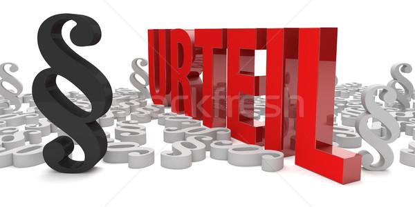 Paragraaf vonnis tekst 3d illustration achtergrond metaal Stockfoto © limbi007