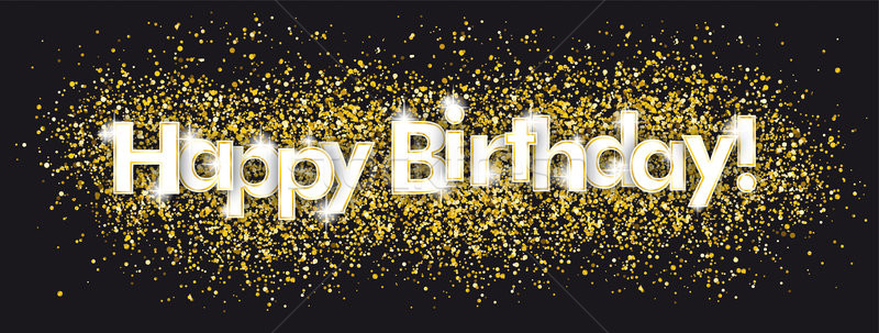 Happy Birthday Golden Confetti Black Stock photo © limbi007
