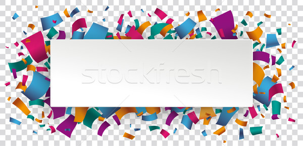 Paper Banner Colored Confetti Transparent Stock photo © limbi007