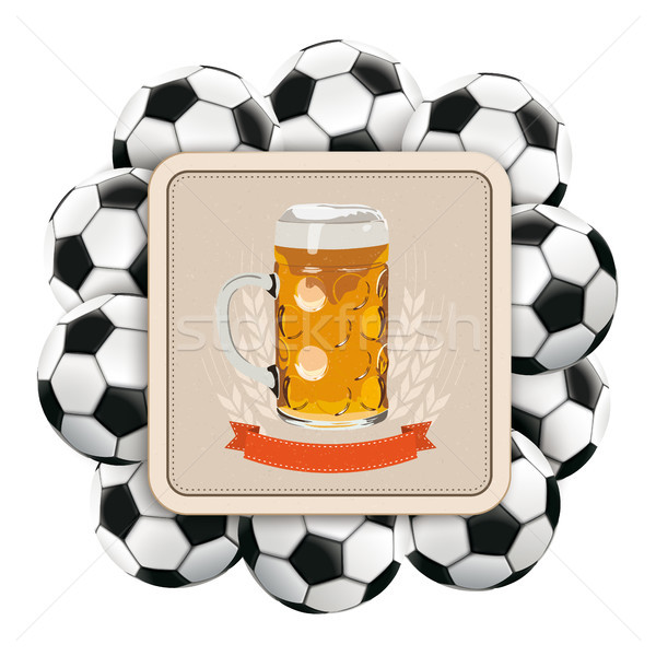 Beer Coaster Classic Footballs Stock photo © limbi007