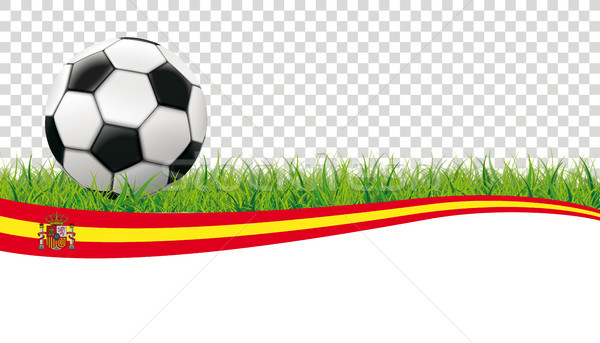 Voetbal gras Spanje transparant klassiek Stockfoto © limbi007