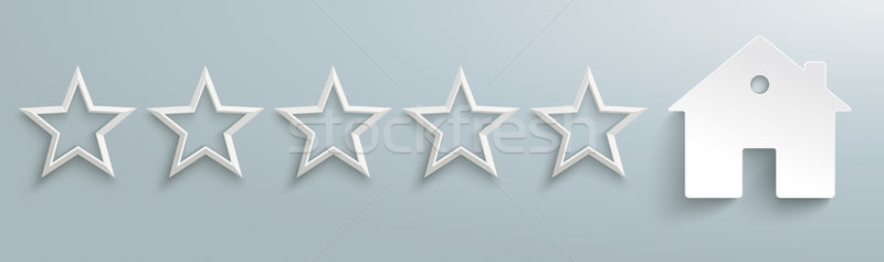 House 5 White Stars Header Stock photo © limbi007