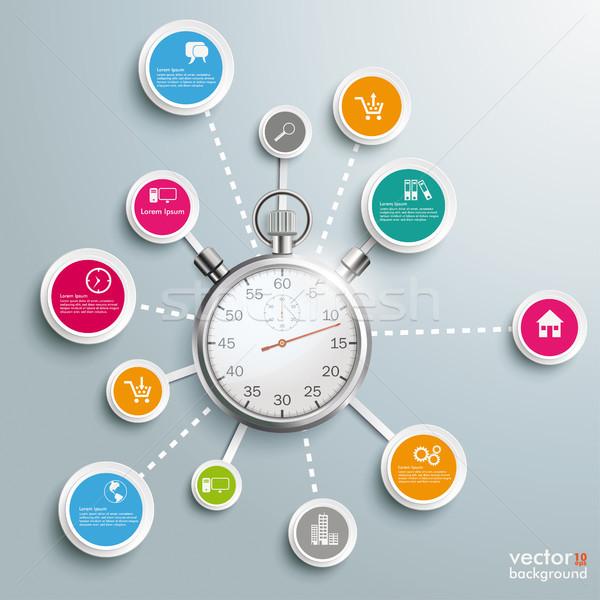 Infographic Stopwatch Network Stock photo © limbi007