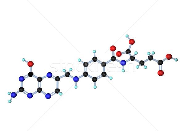 Vitamina ácido blanco laboratorio química químicos Foto stock © limbi007