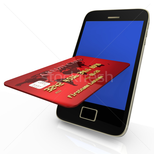 Mobile Shopping With Credit Card Stock photo © limbi007
