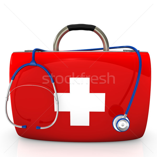 Stethoscope Doctor's Case Stock photo © limbi007