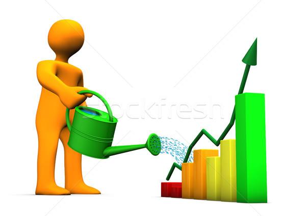 Chart Watering Can Stock photo © limbi007