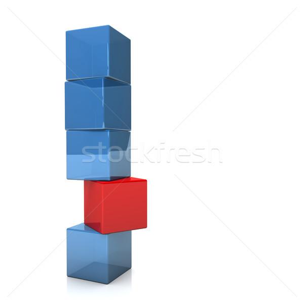 прочность четыре синий один красный Сток-фото © limbi007