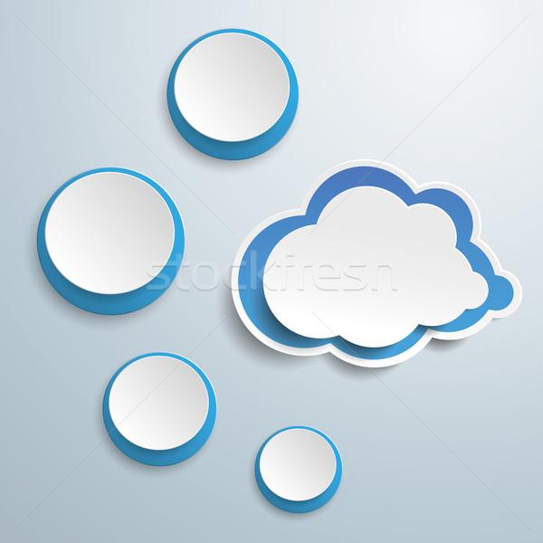 Blue Cloud With Four Circles Stock photo © limbi007