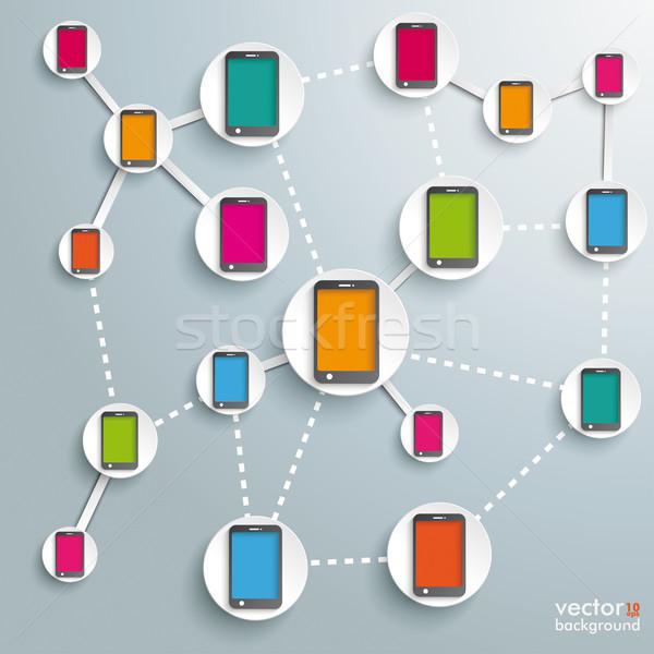 Business netwerken ontwerp smartphone netwerk Stockfoto © limbi007
