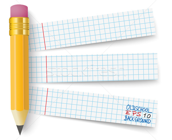 Pencil Checked Papers Stock photo © limbi007