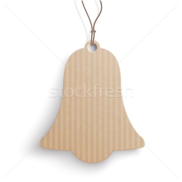 Glocke Preis Aufkleber Karton hängen weiß Stock foto © limbi007