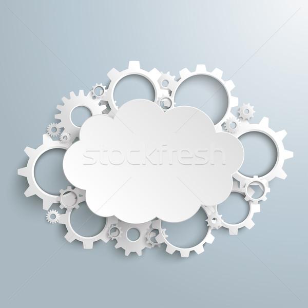 Cloud Gears Engine Stock photo © limbi007
