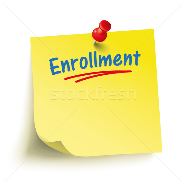 Yellow Stick Red Pin Enrollment Stock photo © limbi007