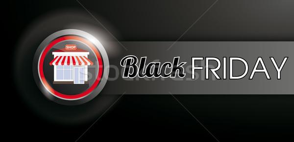 Compras botão black friday bandeira escuro eps Foto stock © limbi007