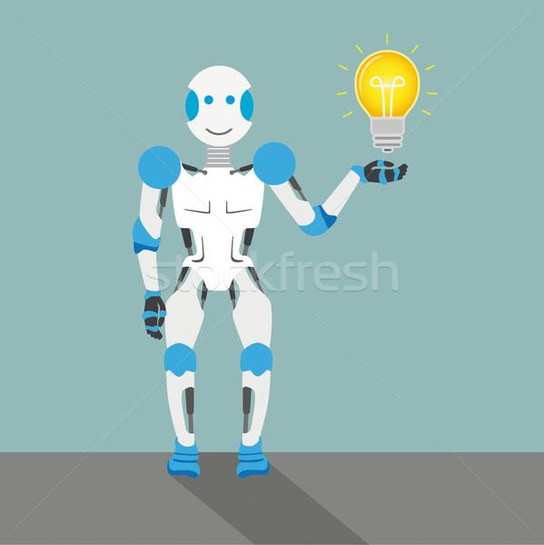 Cartoon Robot Bulb Stock photo © limbi007