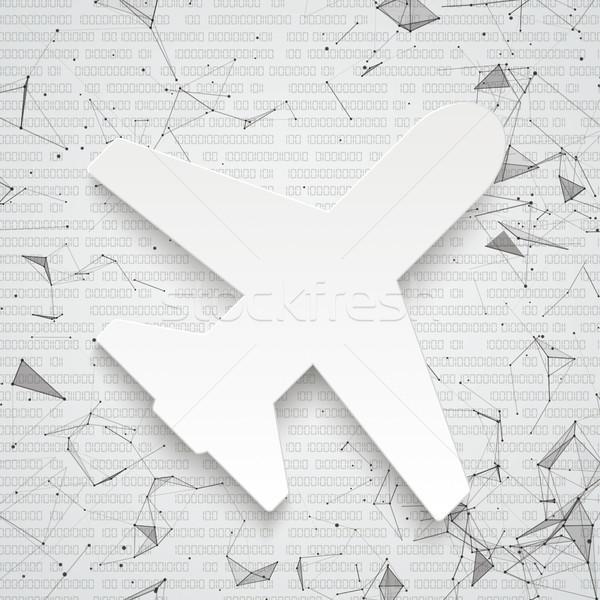 Jet Netzwerk Daten abstrakten weiß Papier Stock foto © limbi007