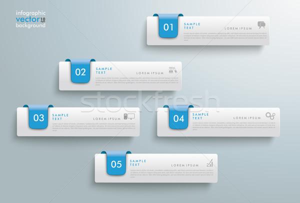 Blu infografica grigio eps 10 vettore Foto d'archivio © limbi007