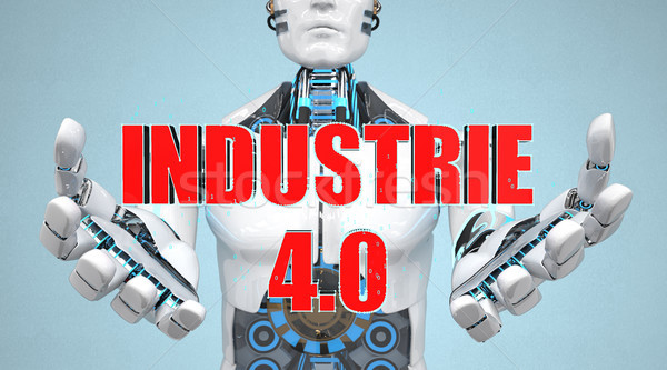 White Robot Industrie 4.0 Stock photo © limbi007