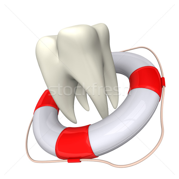 Lifebelt and Tooth Stock photo © limbi007