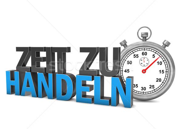 Tempo atto cronometro testo soldi lavoro Foto d'archivio © limbi007