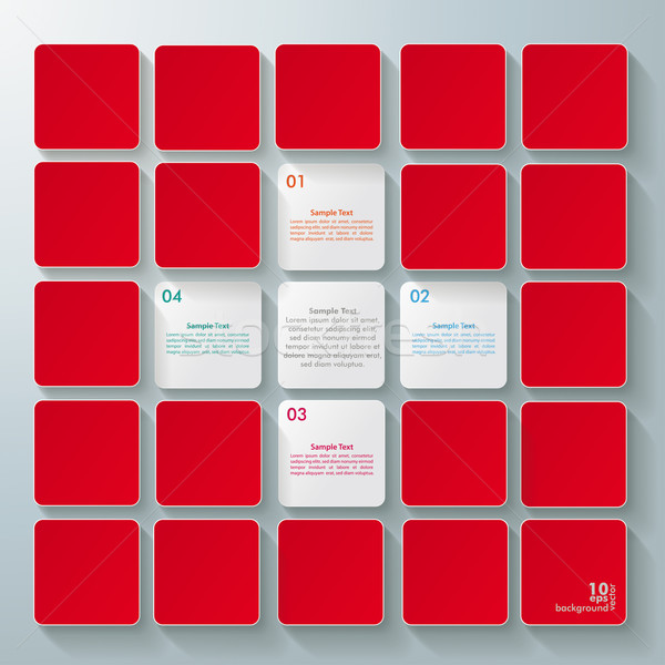 White Cross Infographic Red Background Stock photo © limbi007