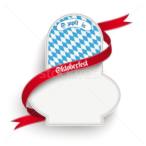 Bavarian Oktoberfest Flyer Emblem White Background Stock photo © limbi007