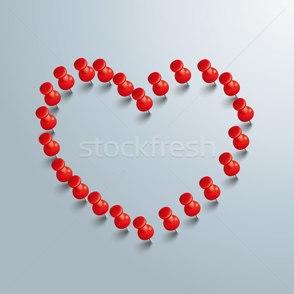 Red Thumbtack Heart Stock photo © limbi007