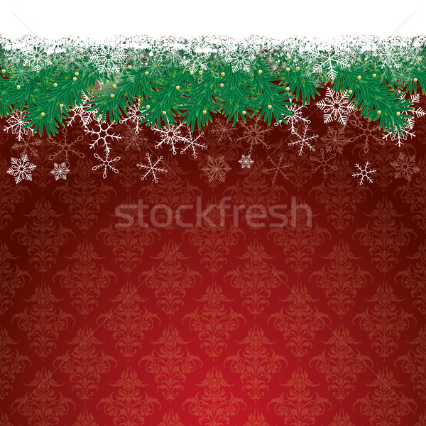 Neve bokeh vermelho eps Foto stock © limbi007