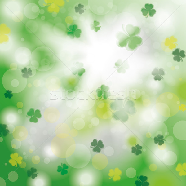 Summer Sunlight Green Shamrocks Stock photo © limbi007