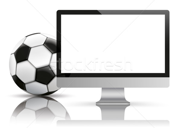 Black PC Monitor Football Mockup Mirror Stock photo © limbi007