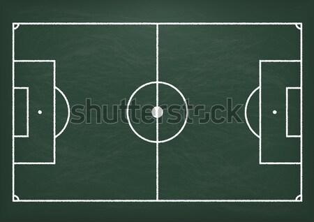 Foto stock: Fútbol · suelo · verde · pizarra · eps · 10