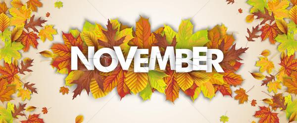 Autumn Foliage Fall Header November Stock photo © limbi007